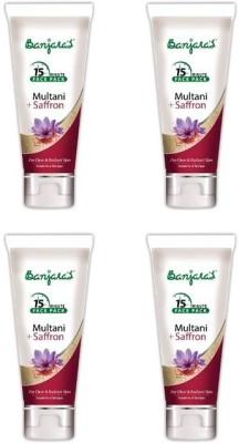 Banjaras 15 Minutes Multani + Saffron Facepack 100 GMS 4 packs