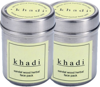 khadi Natural Sandalwood Herbal Face Pack (Twin Pack)