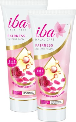 Iba Halal Care Fairness Instant Facial - 3in1 Wash Scrub Mask (Pack of 2)
