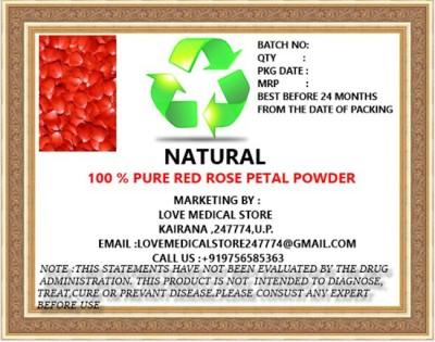 Natural Red Rose Petal Powder