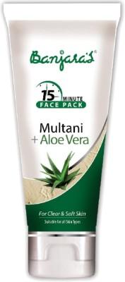Banjaras 15 Minutes Face Pack Multani Aloevera (Tube)