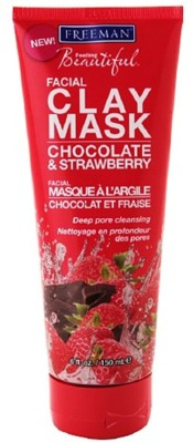 Freeman Beautiful Clay Mask Chocolate & Stawberry Moistures & Tones