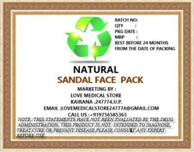 Natural Sandal Face Pack