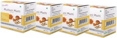 Satinance Multani Mati with Wild Turmeric & Saffron 100g Pack of 4