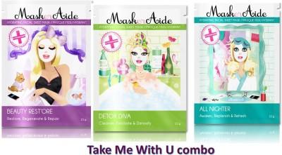 Maskeraide Detox,Exfoliate & Eventone Masks