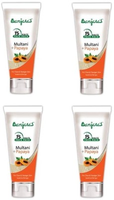 Banjaras 15 Minutes Multani + Papaya Facepack 100 GMS 4 packs