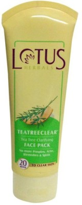 Lotus TEATREECLEAR Tea Tree Clarifying Face Pack