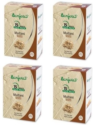 Banjaras Multani Mitti Powder 100 GM 4 packs(400 g)