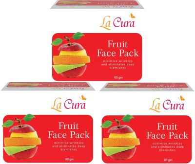 La Cura Fruit Face Pack (Set of 3)