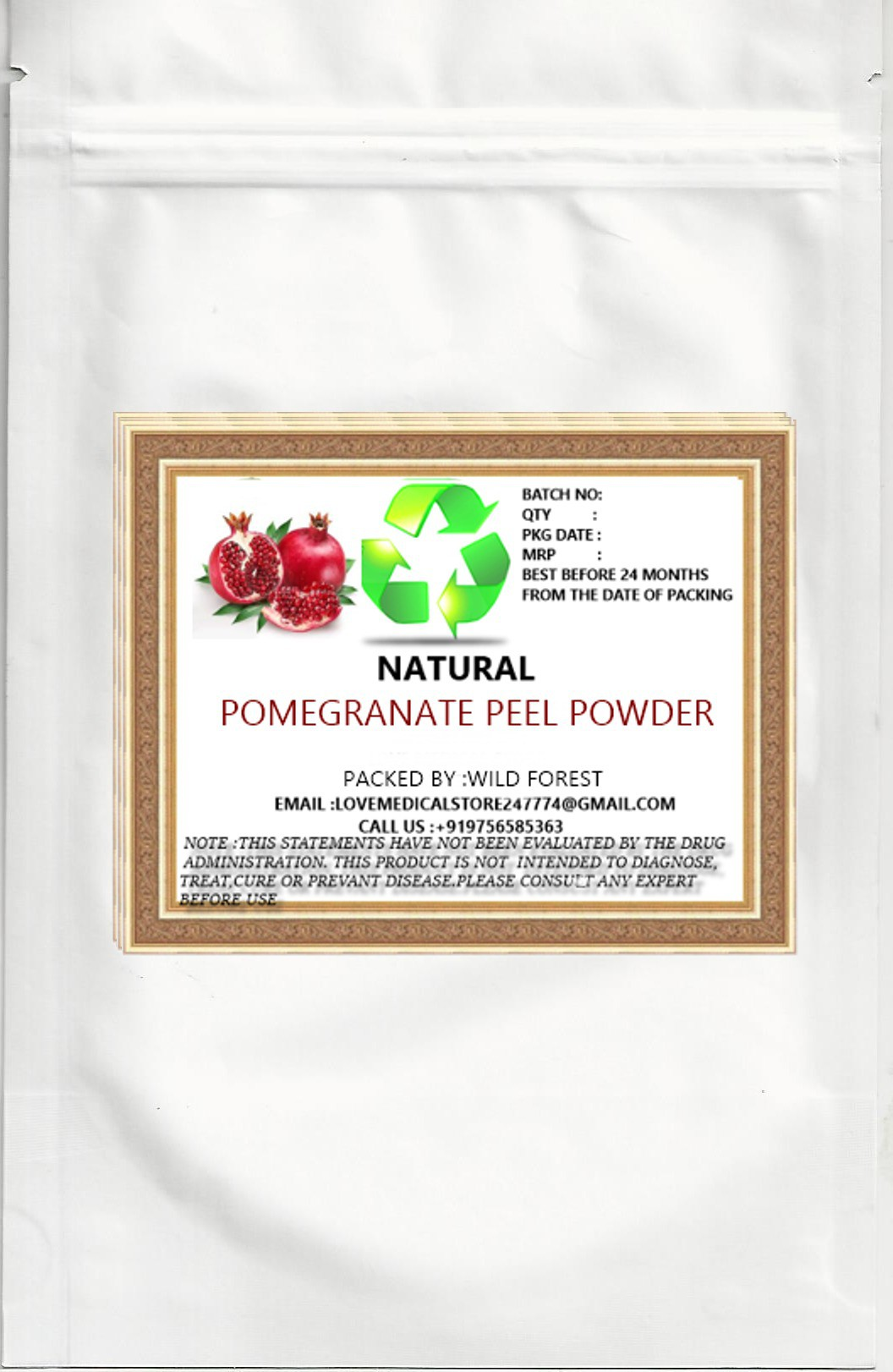 Natural POMEGRANATE PEEL POWDER(200 g)