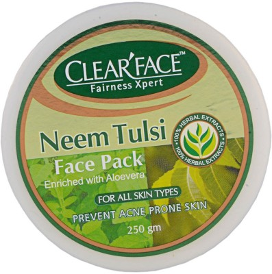 Clear Face Neem Tulsi Face Pack (Enriched With Aloevera)
