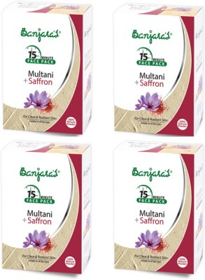 Banjaras Multani with Saffron Powder Pack Set of 4