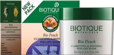 Biotique BIO Peach clarifying & Refining Peel - off mask for oily & Acne Prone Skin