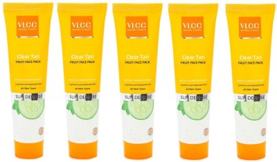 VLCC Clear Tan Face Pack 30g pck of 5