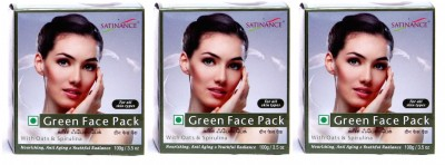 Satinance Green Face Pack 100gm - Pack of 3