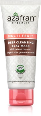 Azafran Organics Multi Fruit Deep Cleansing Clay Mask