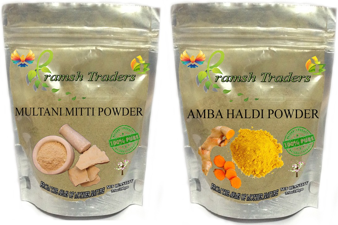 Pramsh AMBA HALDI 100GM + MULTANI MITTI 100GM POWDER(200 g)
