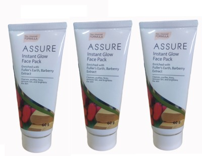 Assure Instant Glow Face Pack (Pack Of 3)