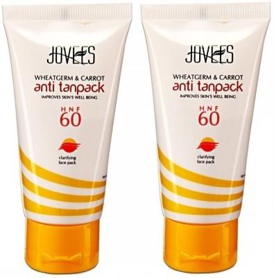 Jovees Wheatgerm & Carrot Anti Tanpack HNF 60 (Pack of 2)