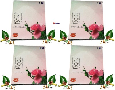 Khadi Herbal Rose Natural Face pack with Fecial Glow