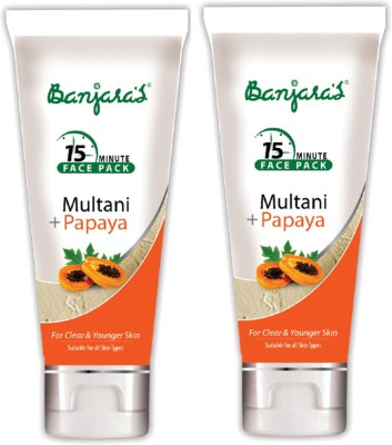 Banjaras 15 Mfp Multani+Papaya 100g (Tube) 2 Packs(200 g)
