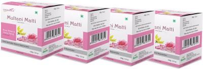Satinance Multani Mati with Rose Petal & Yalng Ylang 100gm Pack of 4