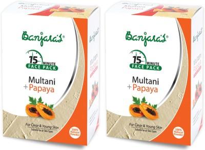Banjaras Multani With Papaya 100gms Set Of 2 Pack