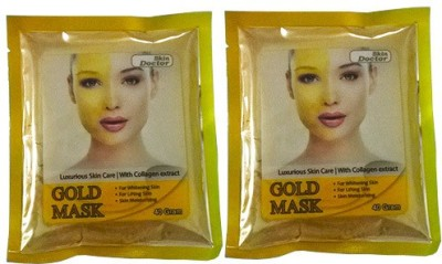 Skin Doctor Glod Mask For Skin Whitening With Collagen Extract Pack Of 2