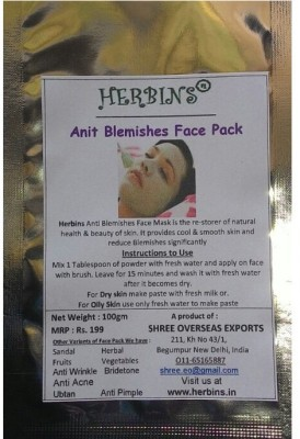 Herbins Anti Blemishes Face Pack