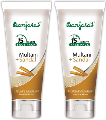 Banjaras 15 Mfp Multani+Sandal 100g (Tube) 2 Packs