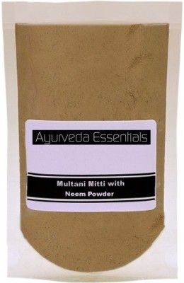 Ayurveda Essentials 100% Pure and Natural Multani Mitti with Neem Powder