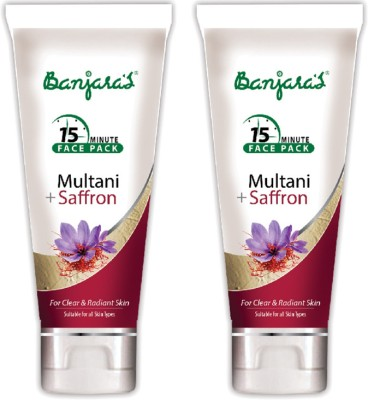 Banjaras 15 Mfp Multani+Saffron 100g (Tube) 2 Packs(200 g)