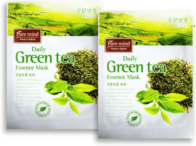 PURE MIND Daily Green Tea Essence Mask