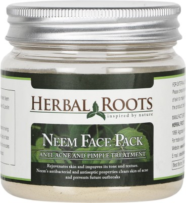 Herbal Roots Anti Acne / Pimple Care And Pimple Remover Neem Face Pack(100 g)