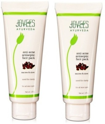 Jovees Ayurveda Tea Tree & Clove Anti Acne Antiseptic Face Pack (Pack of 2)