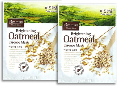 PURE MIND Brightening Oatmeal Essence Mask