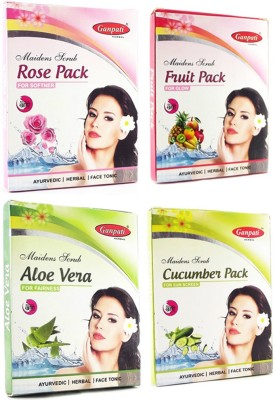 Ganpati Herbal Rose Fruit Aloevera Cucumber Face pack 25 Gms