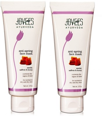 Jovees Ayurveda Sandal, Saffron & Honey Anti Ageing Face Mask (Pack of 2)
