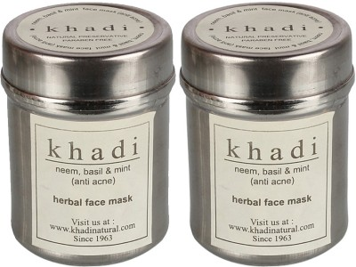 khadi Natural Neem, Basil and Mint Face Mask (Twin Pack)