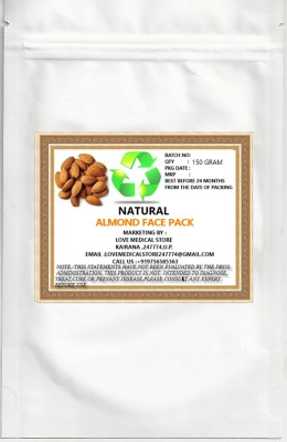 Natural ALMOND FACE PACK POWDER WITH SANDAL