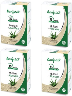 Banjaras Multani with Alovera Powder Pack Set of 4