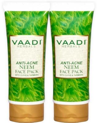 Vaadi Herbals Anti-acne Neem Face Pack with Clove & Turmeric - Pack of 2