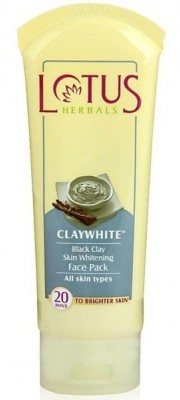 Lotus Clay White Black Clay Skin Whitening Face Pack