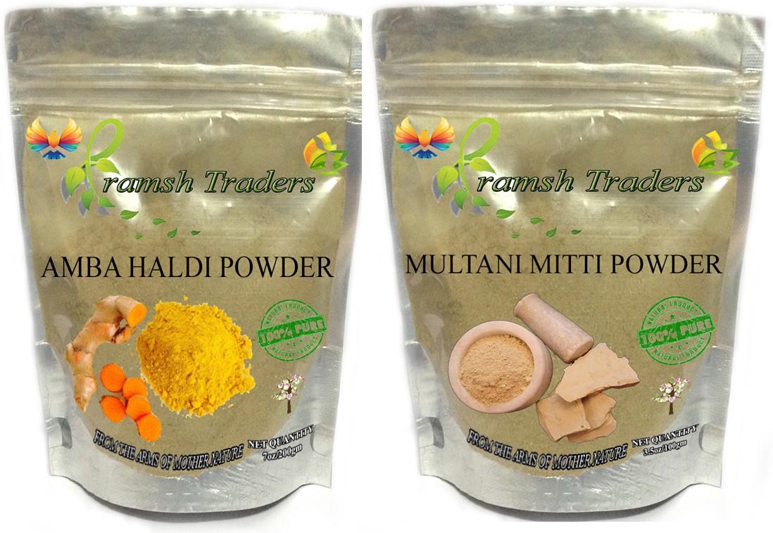 Pramsh AMBA HALDI 200GM + MULTANI MITTI 100GM(300 g)