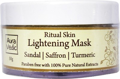 Auravedic Ritual Skin Lightening Mask with Sandal Saffron Turmeric