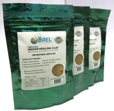 Bael Wellness Indian Healing Clay Combo pack of three 100gm each