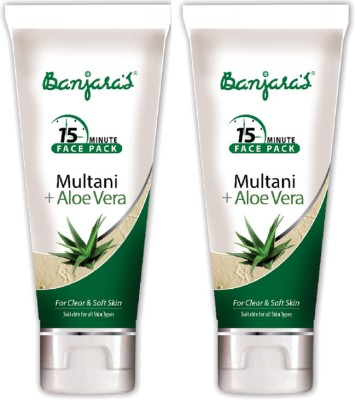 Banjaras 15 Mfp Multani+Aloevera 100g (Tube) 2 Packs