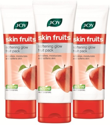Joy Skin Fruits Softening Glow Face Pack 180 ml (Pack of 3 x 60 ml)