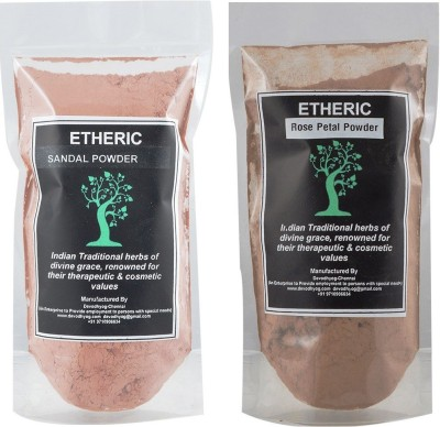 Etheric Rose Petal Powder & Sandal Powder (Combo)