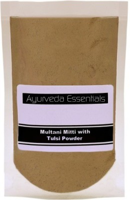 Ayurveda Essentials 100% Pure and Natural Multani Mitti with Tulsi Powder